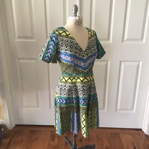 Plenty Traci Reese Anthropology 6P print dress